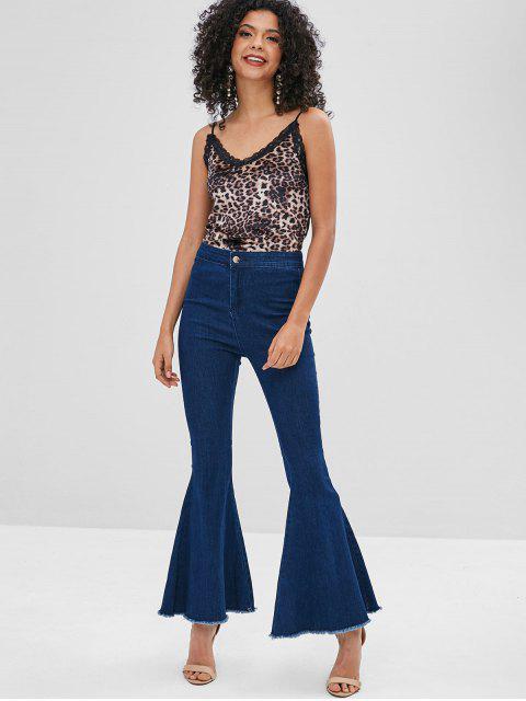 hot Velvet Lace Trim Leopard Cami Top - LEOPARD XL Mobile