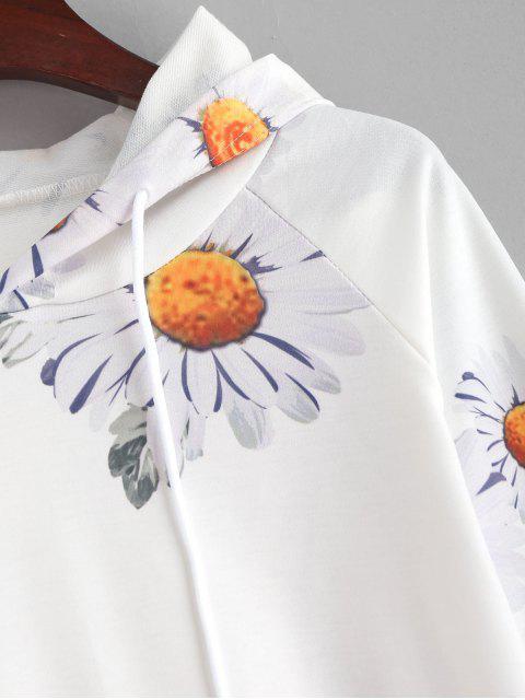 Sweat à Capuche Marguerite Imprimée - Blanc S Mobile