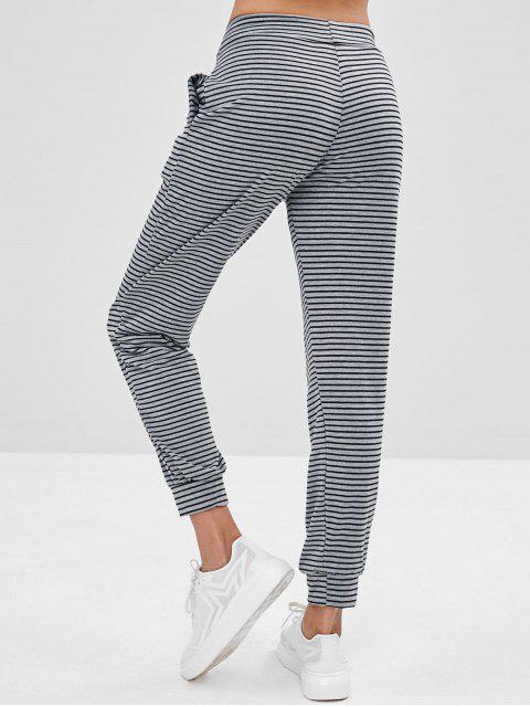Pantalon de Jogging Rayé avec Poche - Gris L Mobile