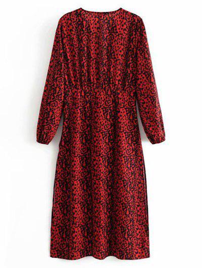 Empire Waist Leopard Print Midi Dress