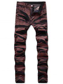 بنطلون جينز طويل مستقيم - الدم الأحمر 40