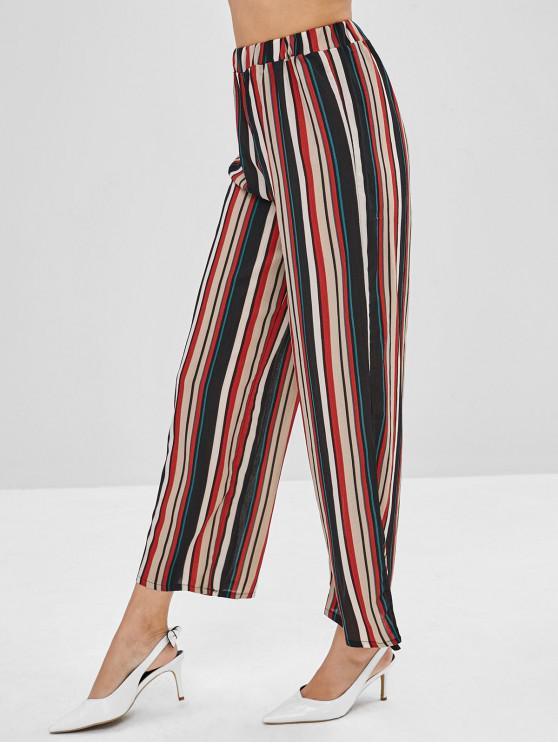 Pantalon de Neuf Minutes Rayé à Jambe Large - Multi-A XL
