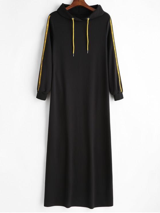 online Letter Patch Hoodie Dress - BLACK S