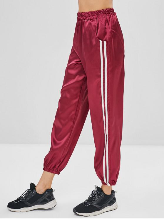 online Silky Baggy High Waisted Joggers Pants - PLUM PIE L