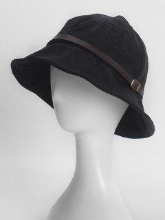 Belt Buckle Retro Corduroy Bucket Hat - Black