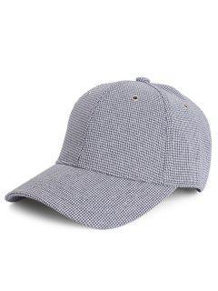 Houndstooth Pattern Unisex Baseball Hat - Blue Gray