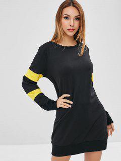 ZAFUL Mini Colorblock Sweatshirt Dress - Black S