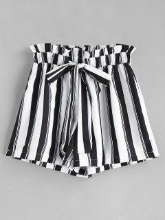 Short Rayé à Taille Haute - Multi L
