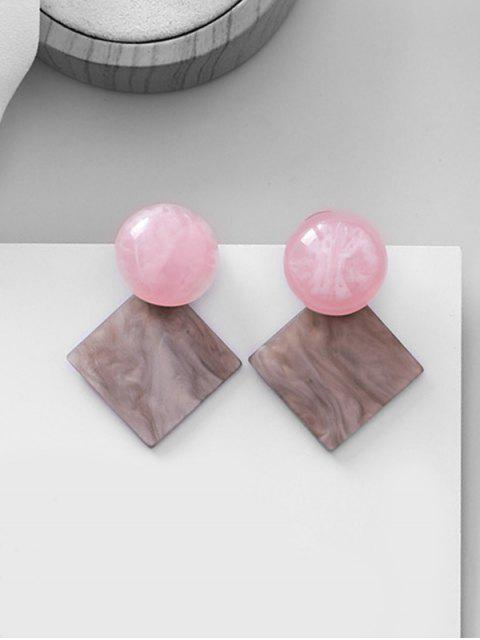 affordable Retro Small Acrylic Square Stud Earrings - GRAY  Mobile