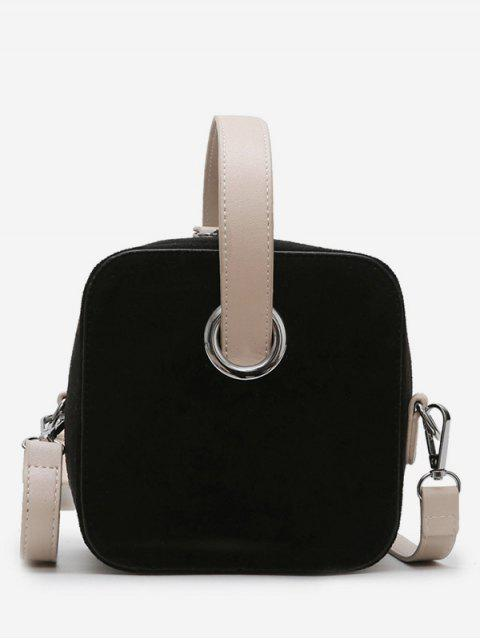 hot Simple Style Square Shape Handbag - BLACK  Mobile