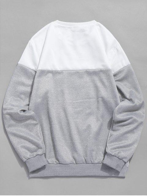 Sweat-shirt Lettre Imprimée à Col Rond - Blanc XS Mobile