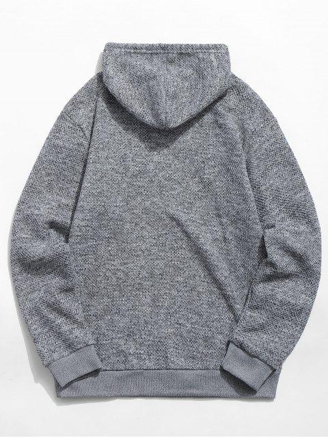 outfit Kangaroo Pocket Casual Pullover Hoodie - GRAY S Mobile