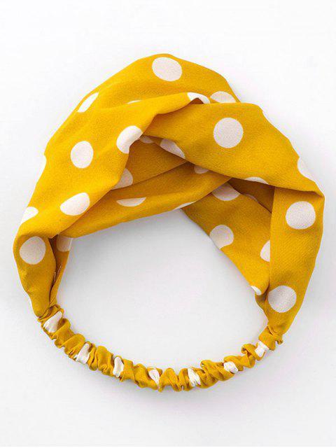 shop Fashionable Dot Design Elastic Headband - MUSTARD  Mobile