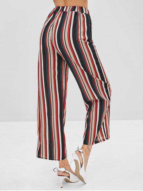 Pantalon de Neuf Minutes Rayé à Jambe Large - Multi-A XL Mobile