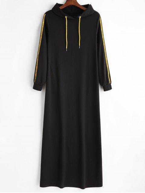 Robe à Capuche Lettre Jointif - Noir L Mobile