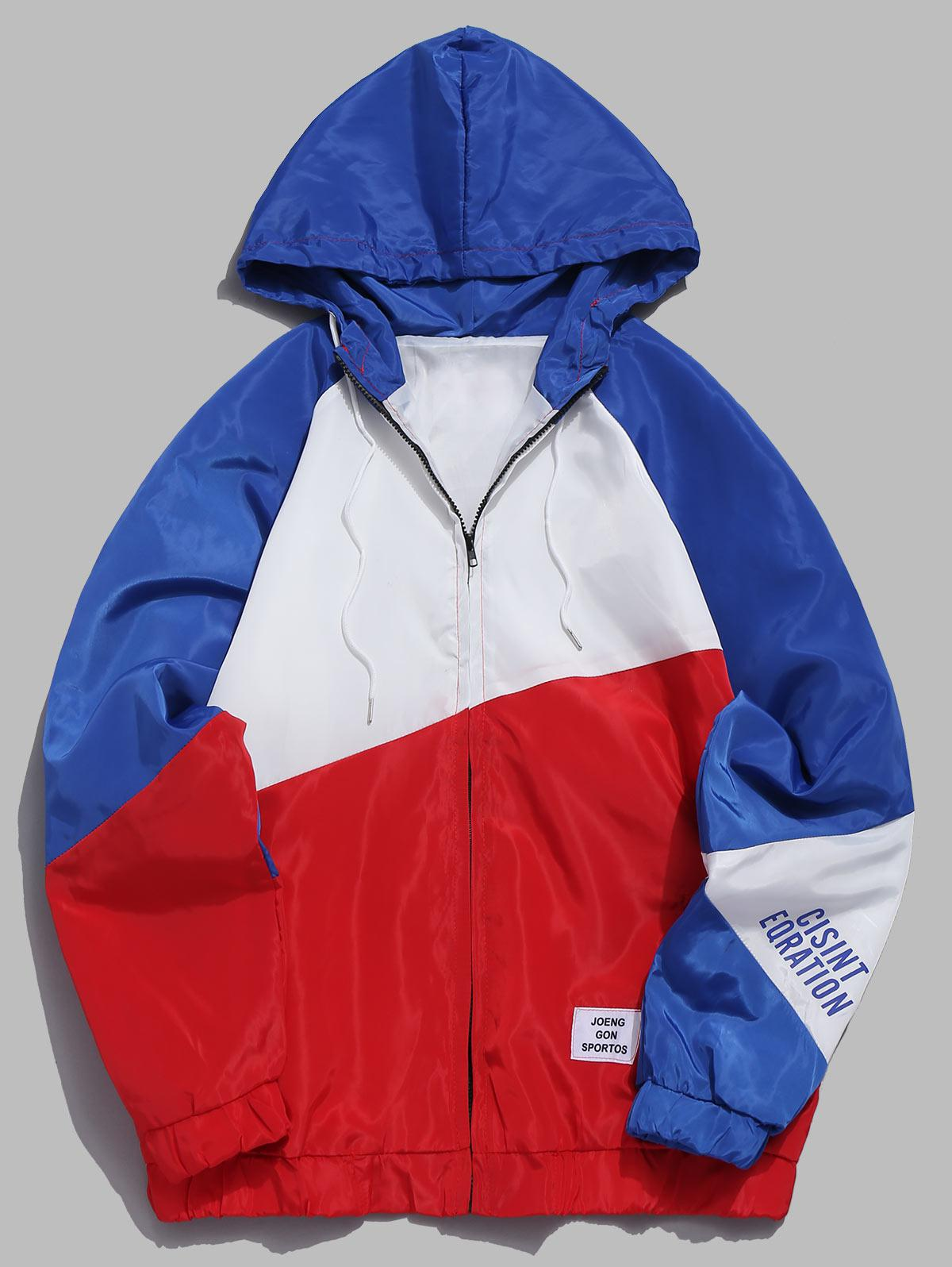 Contrast Color Lightweight Jacket