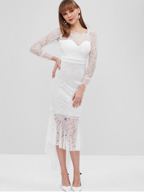 Scalloped Lace High Low Mermaid Dress