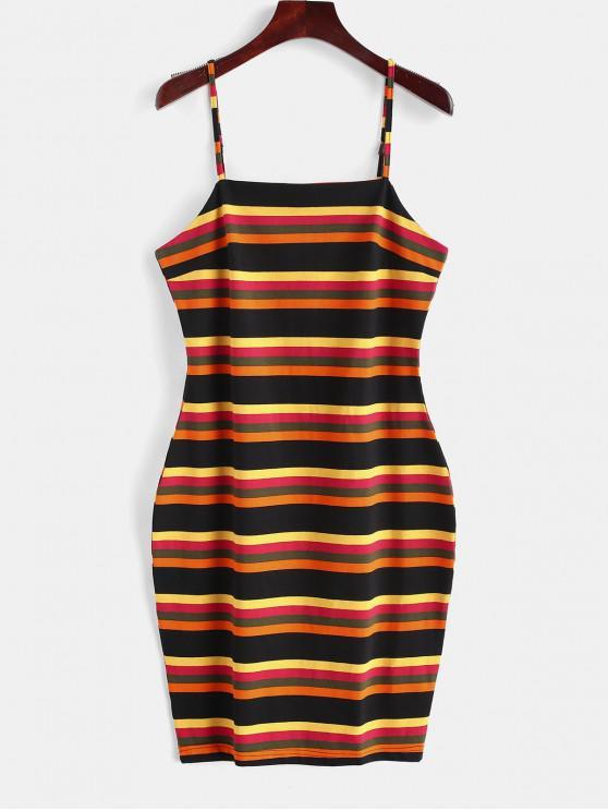 Vestido ajustado de rayas cami de ZAFUL - Multicolor L