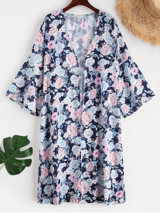 Floral Slit Longline vertuschen - Multi L