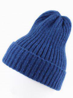 Minimalist Design Winter Knitted Beanie - Cobalt Blue
