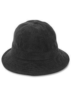 Simple Style Corduroy Bucket Hat - Black