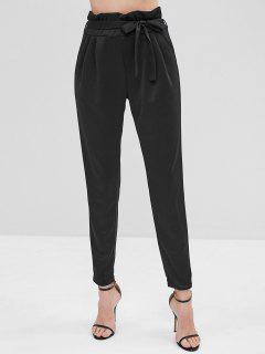 Pantalon Taille Haute Avec Ceinture - Noir L