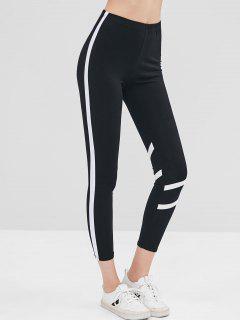 Legging Monlant Bicolore Contrasté - Noir M