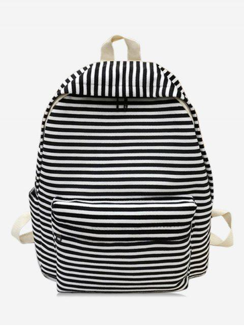 hot Stylish Striped Decoration Backpack - BLACK  Mobile