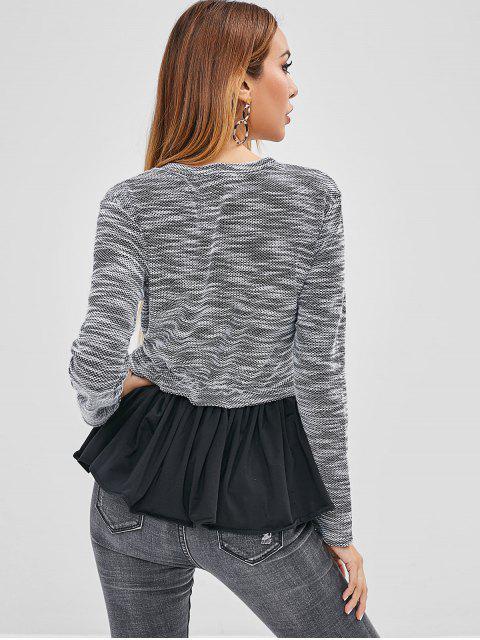 fashion Heathered Ruffle Top - MULTI-A XL Mobile