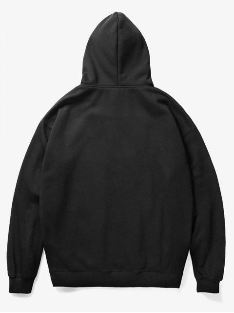 womens Evil Head Print Fleece Hoodie - BLACK XS Mobile