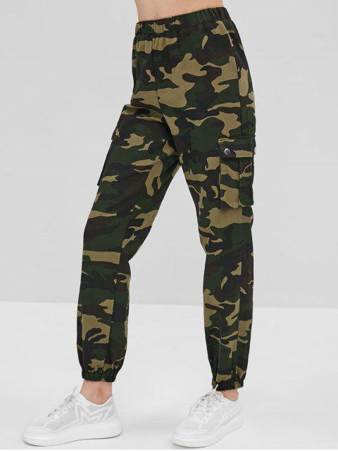 womens Camo High Rise Jogger Pants - ACU CAMOUFLAGE S Mobile