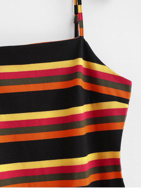 ZAFUL Robe Moulante Rayée à Bretelle - Multi L Mobile