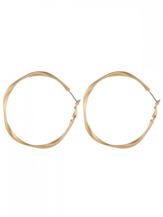 buy Big Ring Simple Style Hoop Earrings - GOLD