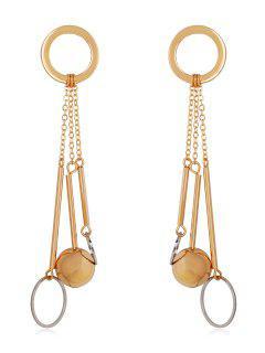 Boucles D'oreilles Pendantes En Forme De Cercle - Or 1 Pièce
