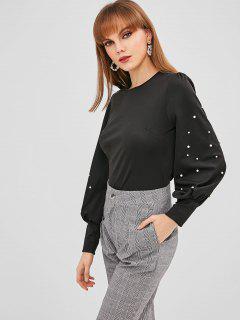 Camiseta Manga Corta Linterna Perla - Negro M