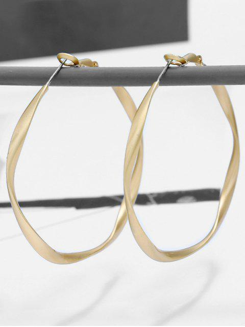 Boucles d'Oreilles au Crochet Style Simple Grande Cercle - Or  Mobile