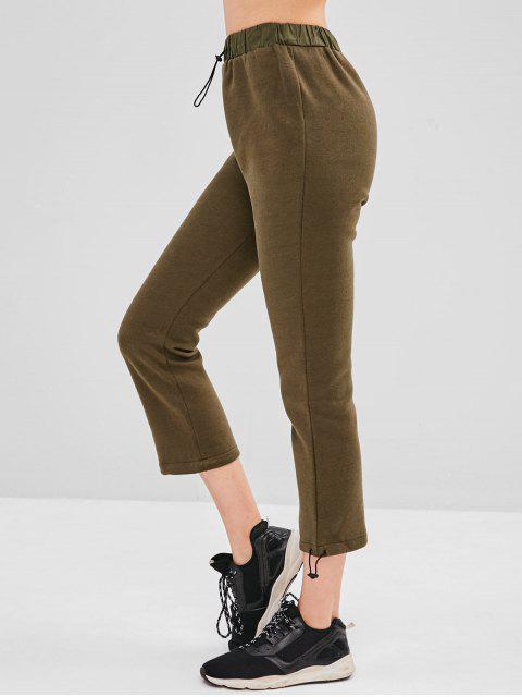 trendy Fleece Lining Drawstring Pants - ARMY GREEN M Mobile