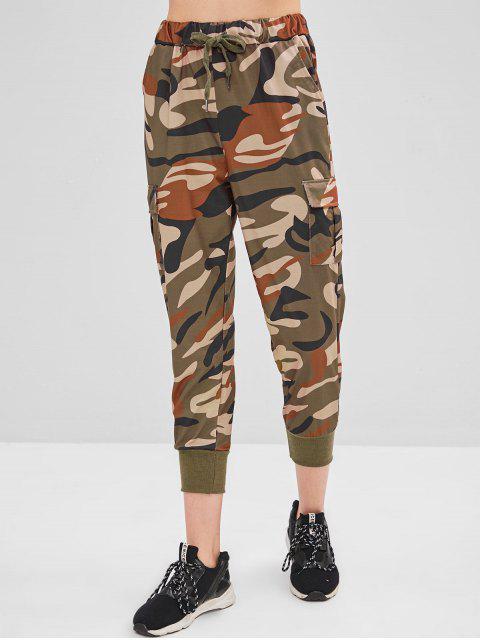 Pantalones de bolsillo con cordón de camuflaje - ACU Camuflaje M Mobile