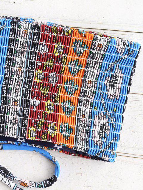 Conjunto de biquíni com estampa de renda com zaful - Multi-A M Mobile