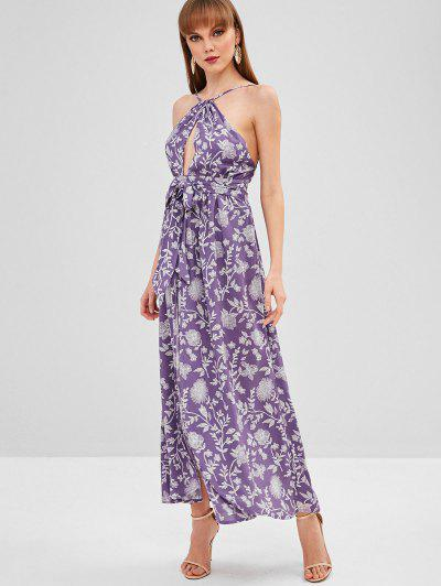 e560f6a217 Cami Backless Belted Dress - Purple M ...