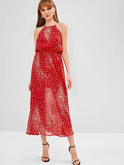 Estrelas Imprimir Vestido Maxi - Vermelho Xl
