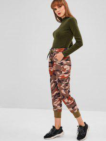 31cfda48bd ... Mock Neck Long Sleeve Bodysuit. hot Mock Neck Long Sleeve Bodysuit - ARMY  GREEN M