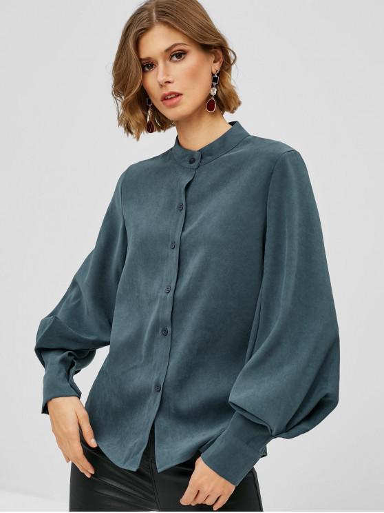 قميص نفخة الأكمام - رمادي الفيروز S
