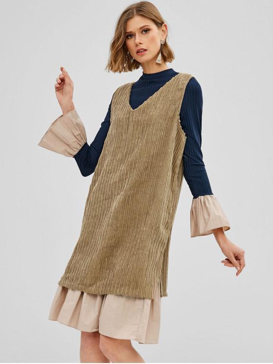 shops Corduroy Dress and Ruffled Dress Twin Set - MULTI ONE SIZE