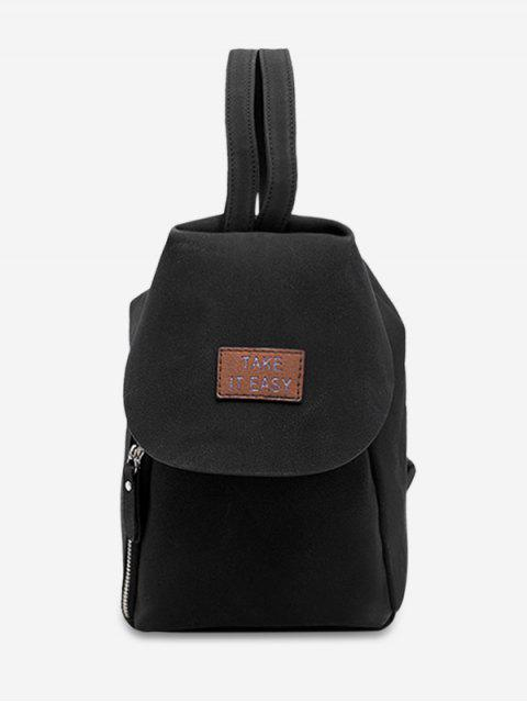 outfit Letter Patchwork Convertible Backpack - BLACK  Mobile