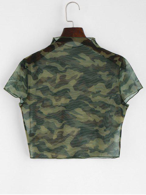 Haut Court Camouflage Transparent - ACU Camouflage XL Mobile