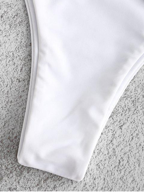 new ZAFUL Buckle Low Waisted Bikini Set - WHITE L Mobile