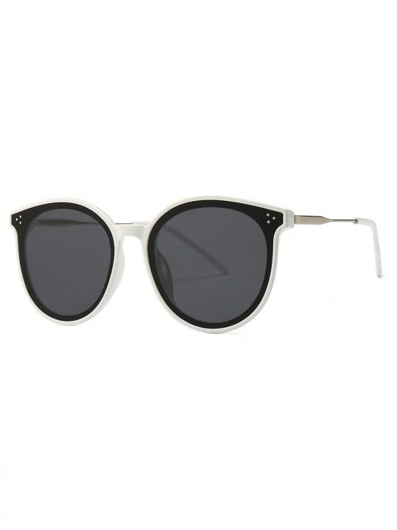 229ca5ee6 13% OFF] 2019 Unisex Round Frame Sunglasses In WHITE   ZAFUL