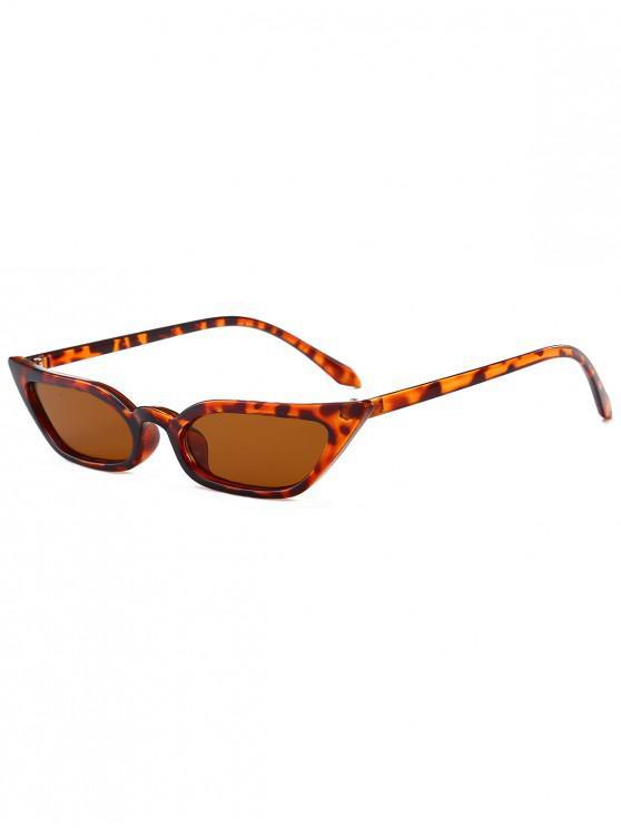 fashion Animal Print Stylish Narrow Lens Sunglasses - LEOPARD