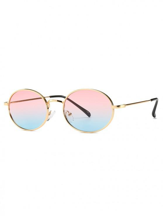 chic Oval Light Metal Frame Sunglasses - PINK